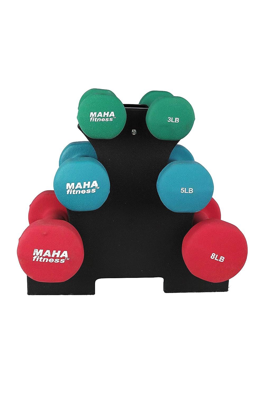Ben&Jonah Ultimate Fitness Juego de Mancuernas con Soporte - 32 LB ...