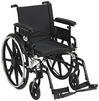 Drive Medical Viper Plus GT Wheelchair with Flip Back Removable Adjustable  Full Arms, Swing