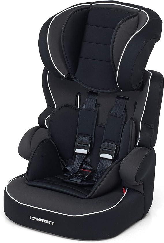 Foppapedretti Babyroad - Seggiolino Auto, Gruppo 1-2-3 (9-36 Kg) per Bambini da 9 Mesi a 12 Anni Circa, Nero (Noir)