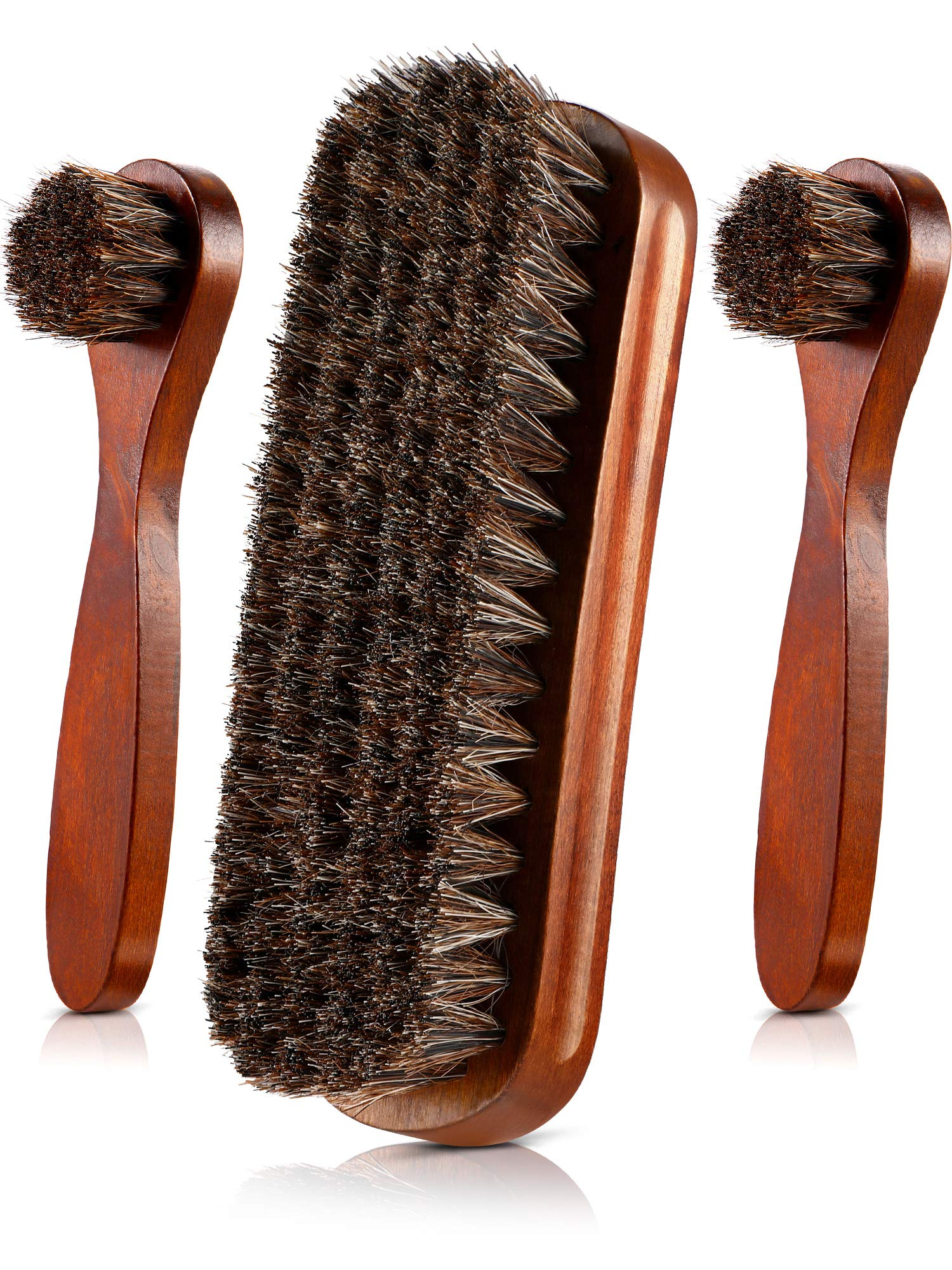 Trolleycar Shoe Polish Brushes Professional Quality Dauber Applicator 2 Pack