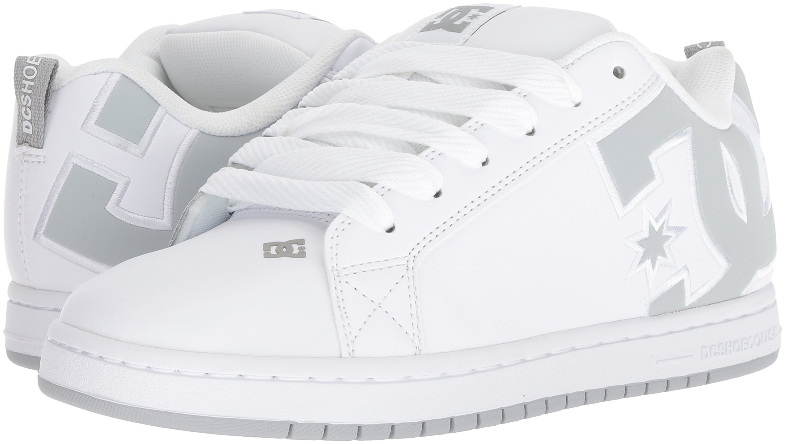 DC Men's Court Graffik SE Skate Shoe White Grey, 15 Medium US by DC (Image #5)