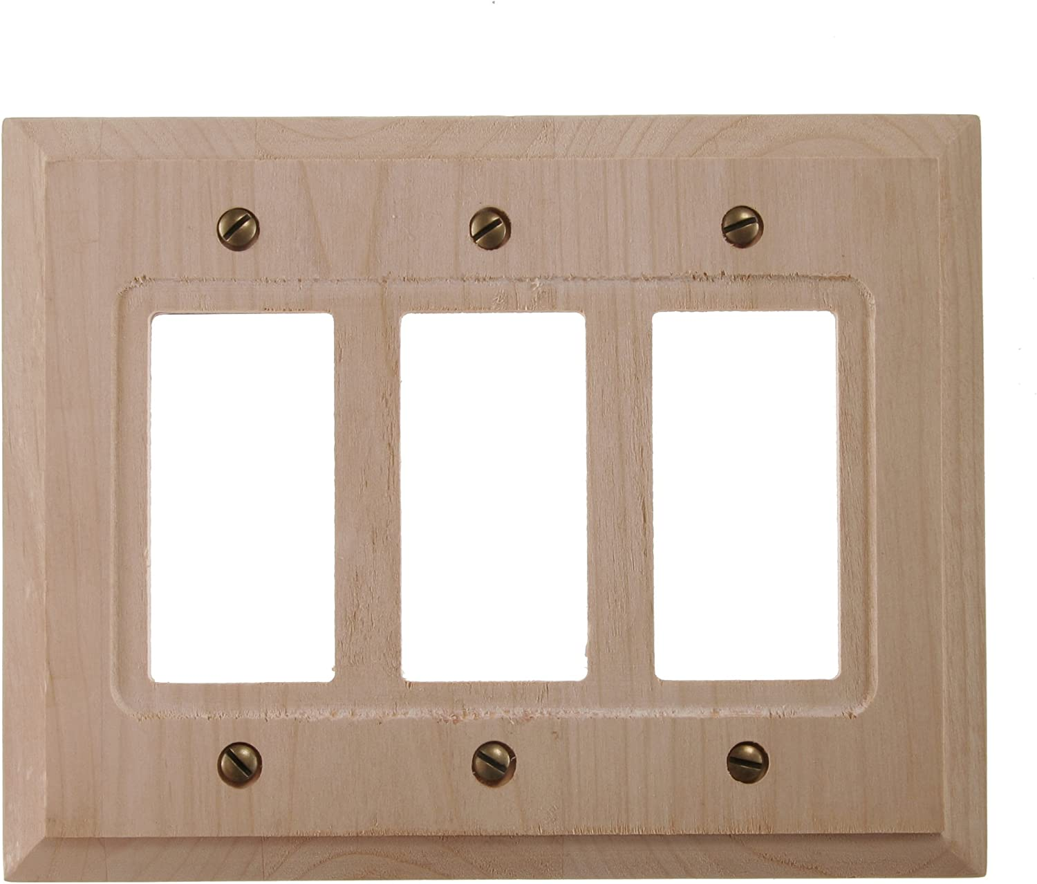 Single Rocker Lightswitch Plate Faux Thin Whitewash Wood