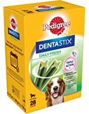 Pedigree DentaStix Daily Fresh for Medium Dogs 10-25 kg, 28 Sticks, 4 x 180 g (Pack of 4)