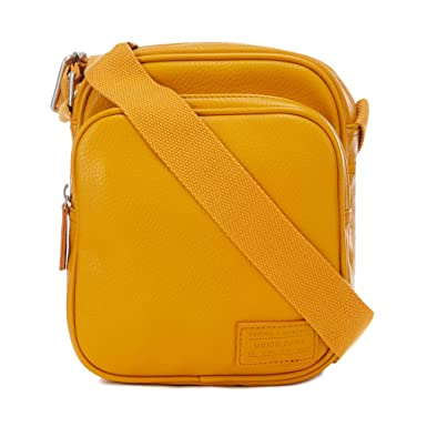 08ec5ebe4c35 Red Herring Men Mustard Cross Body Bag One Size  Red Herring  Amazon.co.uk   Clothing