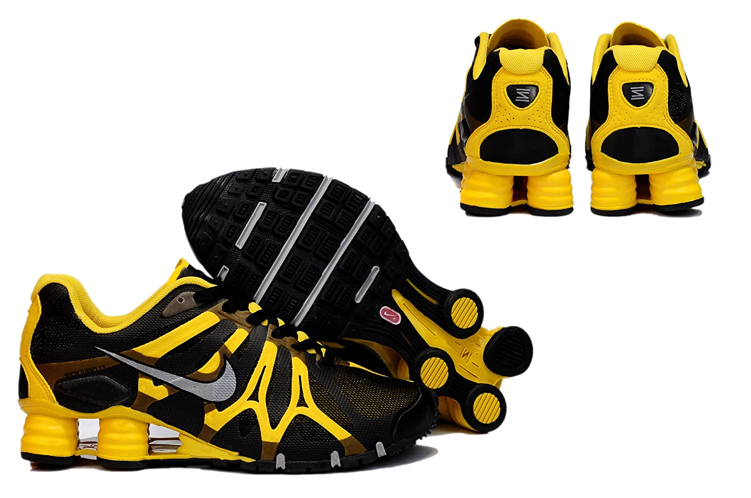 differently 9d2a2 c68ba Nike shox turbo 13 Black/Yellow UK 10.5: Amazon.co.uk: Shoes ...