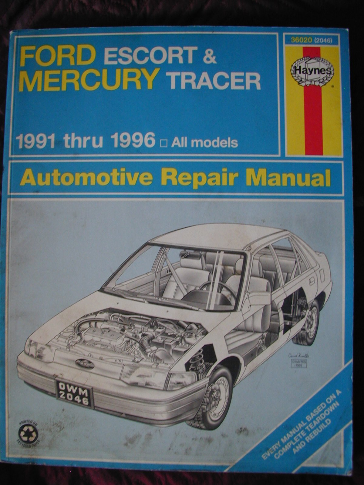 ford escort mercury tracer automotive repair manual all ford rh amazon com 1992 Ford Aerostar 1996 Ford Econoline