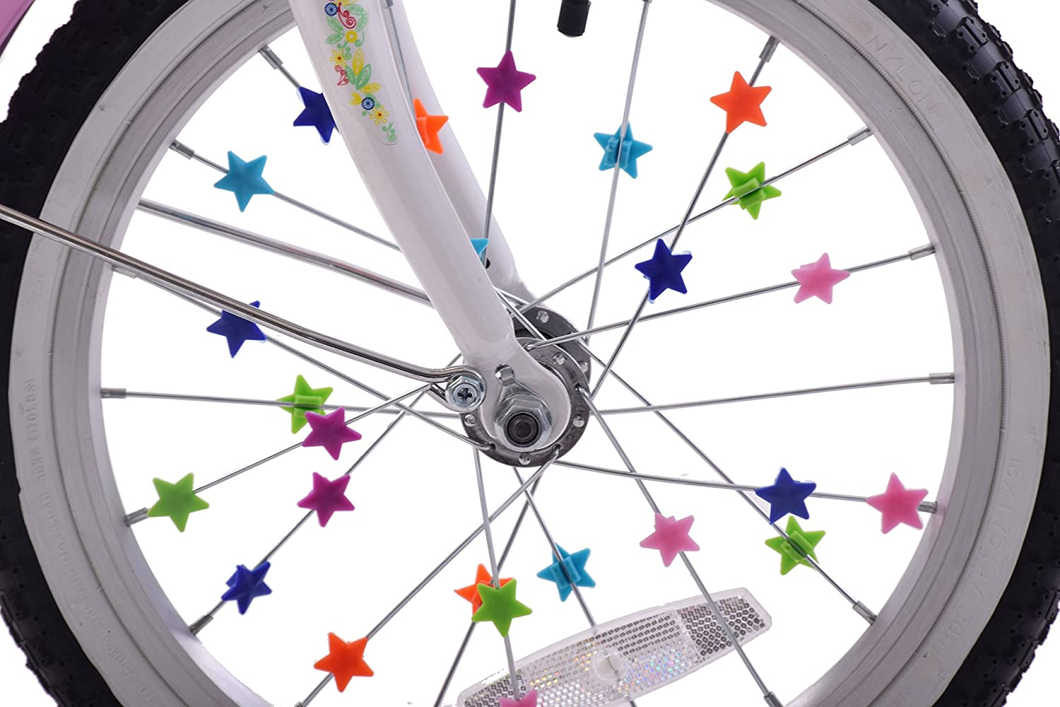 36pcs Lot Bicycle Kids Bike Wheel Spoke Beads Clip Multi Coloured Boys Girls Fun