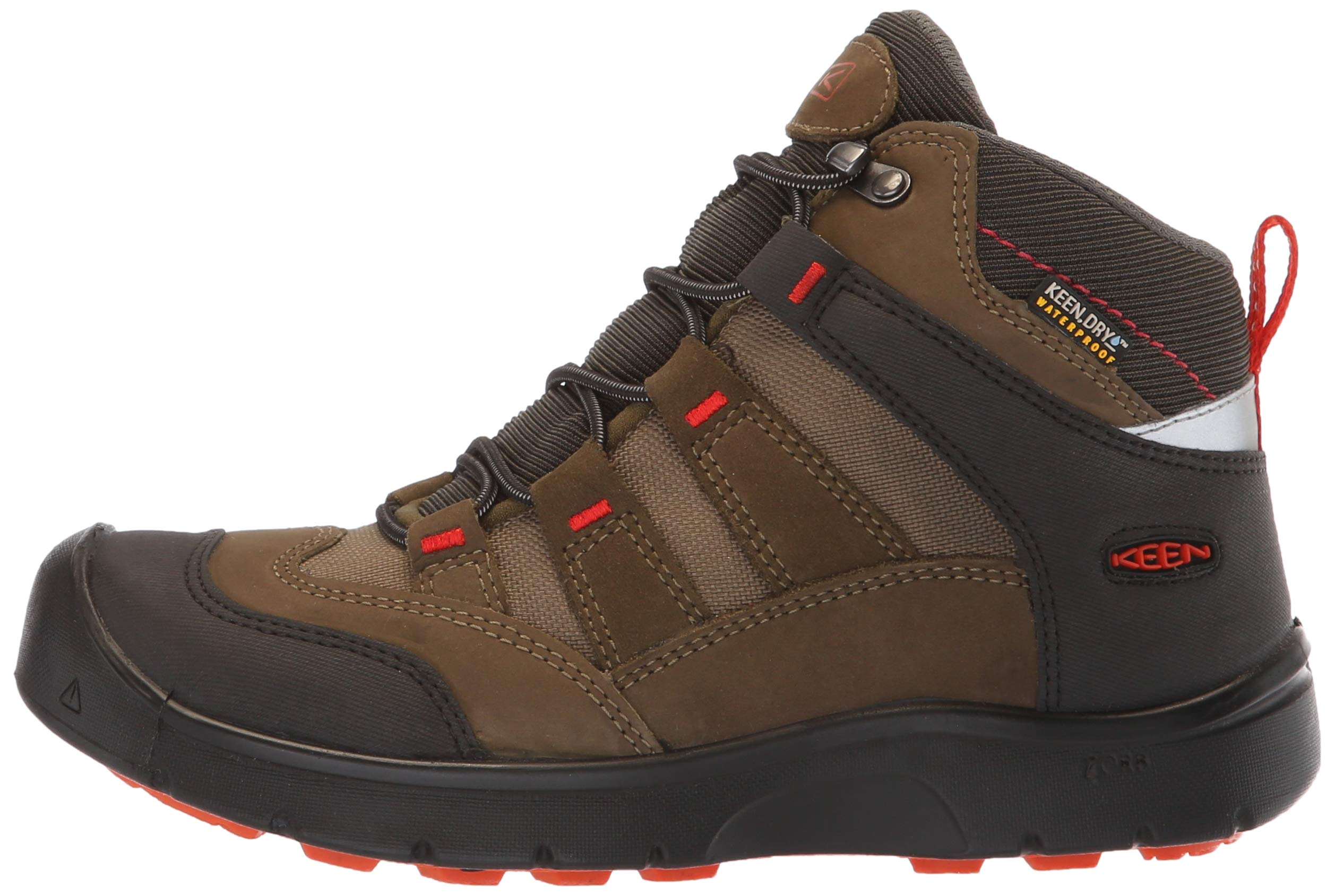 KEEN Unisex HIKEPORT MID WP Hiking Boot, Martini Olive/pureed Pumpkin, 12 M US Little Kid by KEEN (Image #5)