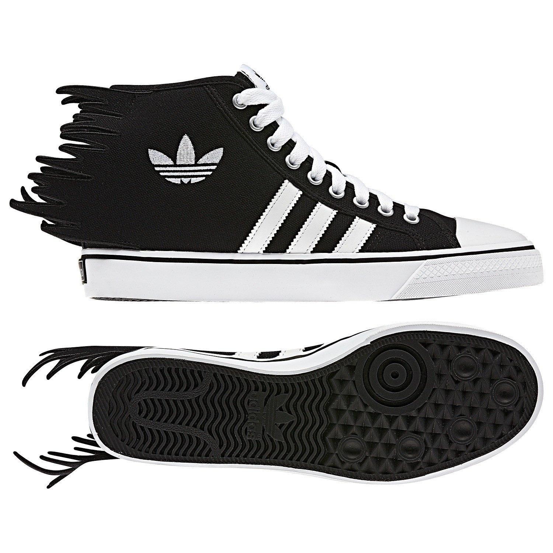 f66bb290259 Galleon - Adidas Originals ObyO JS Jeremy Scott Nizza Jagged Black White  Q23107 Men s Shoes (Size 12.5)