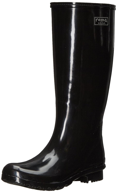 Roma Boots Women's Emma Classic Rain Boots B0716SLWW5 9 B(M) US|Black
