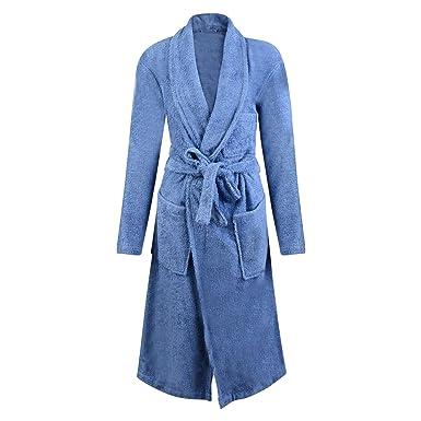 1977ce2b37 Mens Dressing Gown Marks Spencer Bathrobe Blue Towelling SNAG Resist   Amazon.co.uk  Clothing