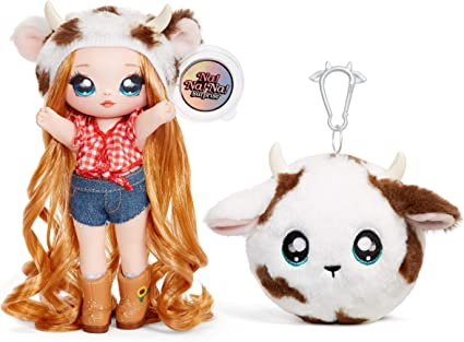 Amazon.com: MGA Entertainment Na! Na! Na! Surprise 2-in-1 Fashion Doll and Plush Purse Series 3 – Annabelle Moooshe: Toys & Games