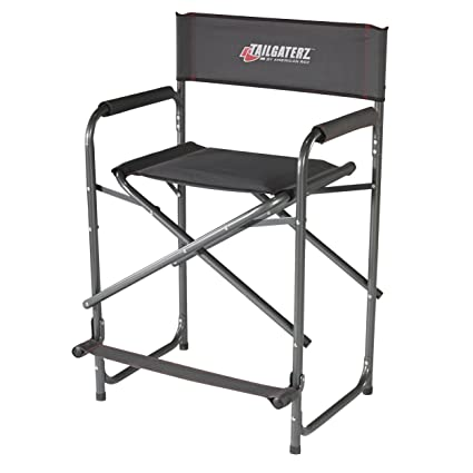 Tailgaterz Take Out Seat Steel Chair, Game Day Graphite