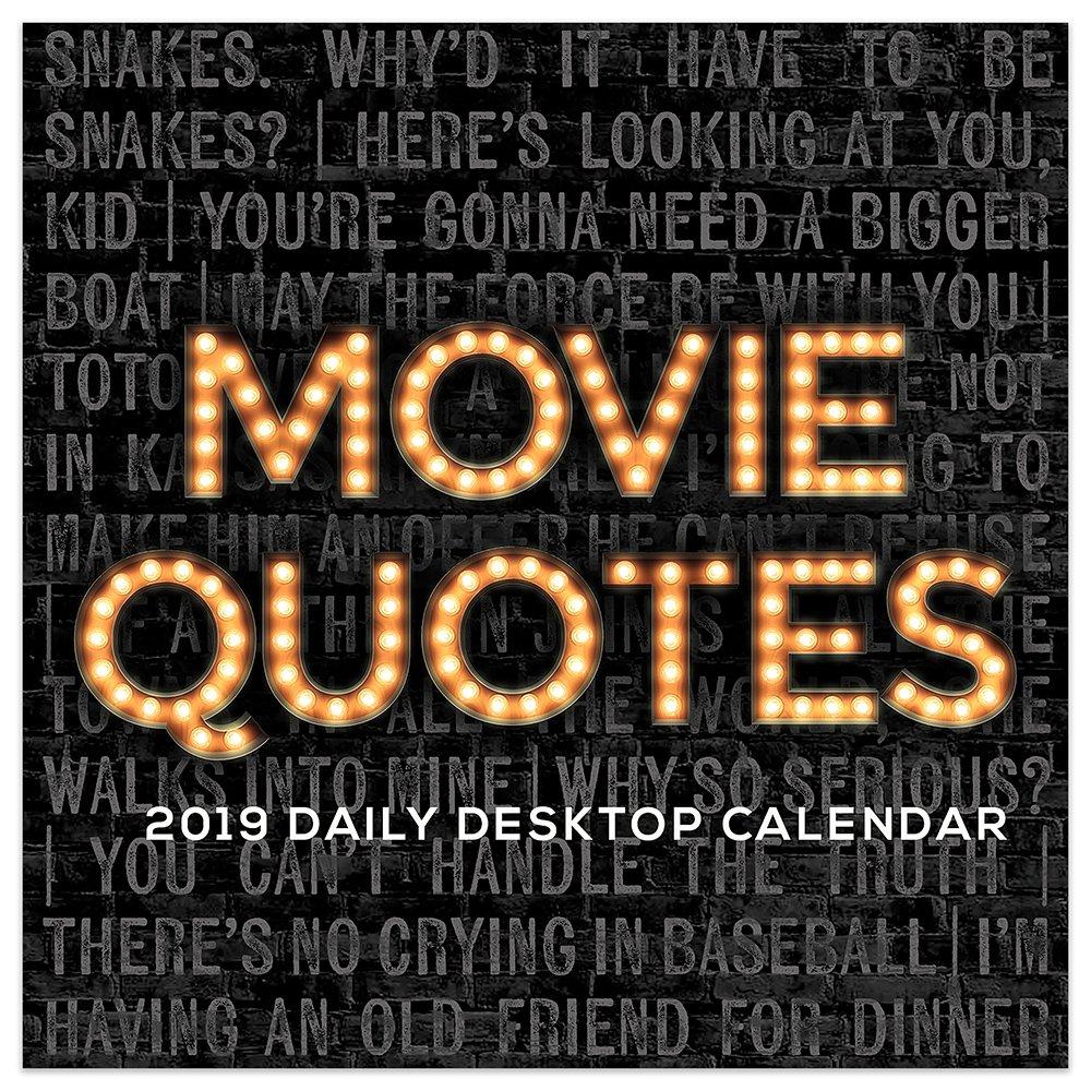 2019 Daily Movie Quotes Desk Calendar