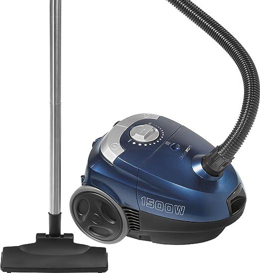 Clatronic BS 1272 - Aspirador con sistema de microfiltrado cuádruple y accesorios: cepillo y boquillas para juntas y polvo (1500 W), color azul: Amazon.es: Hogar