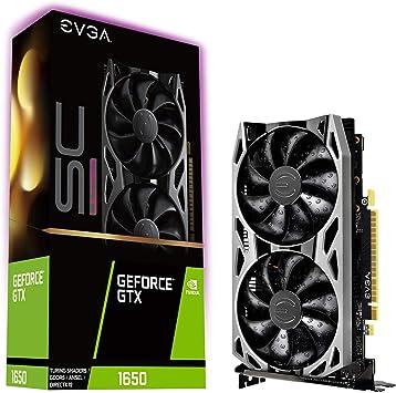 EVGA GeForce GTX 1650 SC Ultra Gaming, 04G-P4-1057-KR, 4GB GDDR5, Dual Fan, Metal Backplate