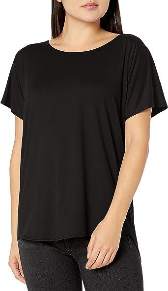 Star Vixen Womens Side Pleated Dolman Sleeve Top