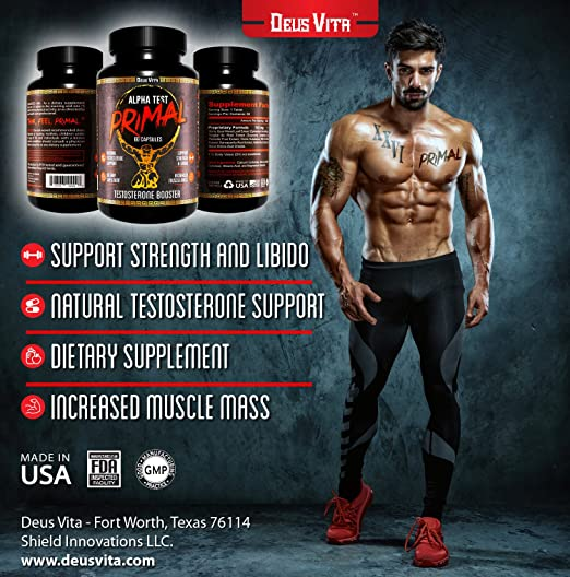 Top Rated Natural Testosterone Booster for Men | by Deus Vita | Strongest Pill Form Supplement | Best Value - Honest Reviews | Satisfaction Guranteed