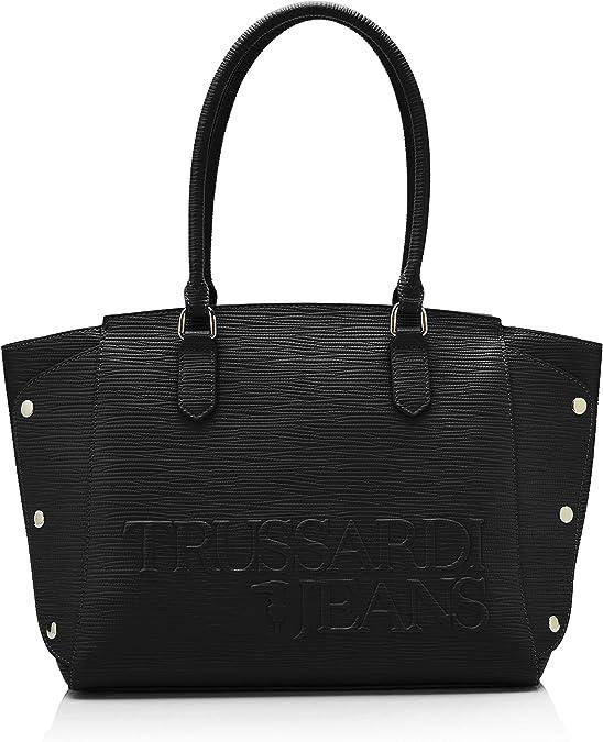 Trussardi Jeans Melly Tote, femme, Noir (Black), 33x24x16 cm (W x H L)