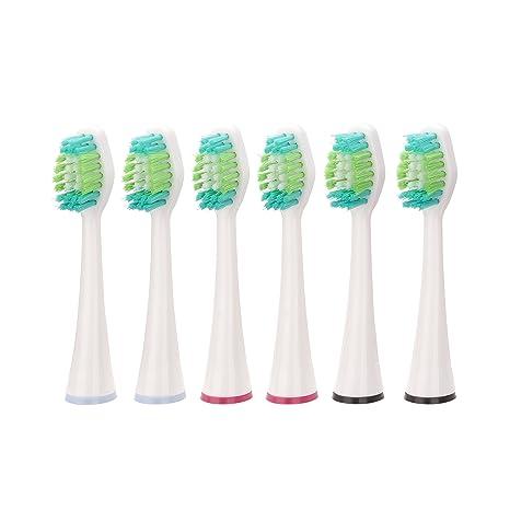 QUIGG 6 repuesto para cepillo de dientes para batería-el cepillo de dientes de sonido