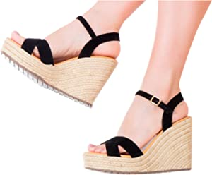 Vida Leather Women Criss Cross Leather Colored Platform Ankle Strap Espadrille Colombian Sandals Sandalias de Plataforma