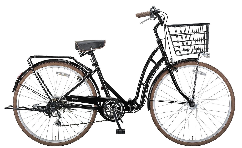 キャプテンスタッグ(CAPTAIN STAG) 自転車 バレイ 26インチ 折りたたみ自転車 FDB266 ( シマノ6段変速 LEDオートライト リング錠 リアキャリア 前後泥よけ )標準装備 ブラック YG-216 B00MENEZBGブラック