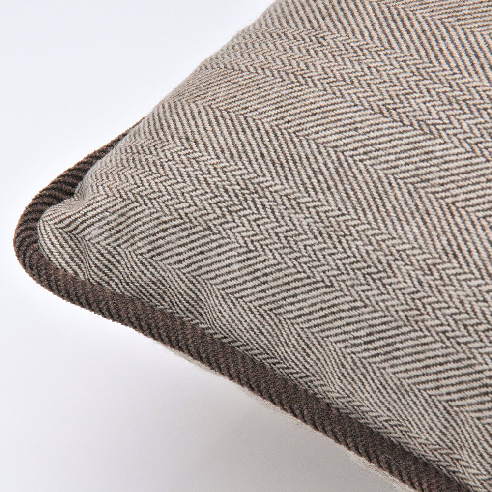 12 By 20 Brown Shinnwa Wool Polyester Double-faced Same Design Houndstooth Decorative Throw Pillow Case Cushion Covers for Couch