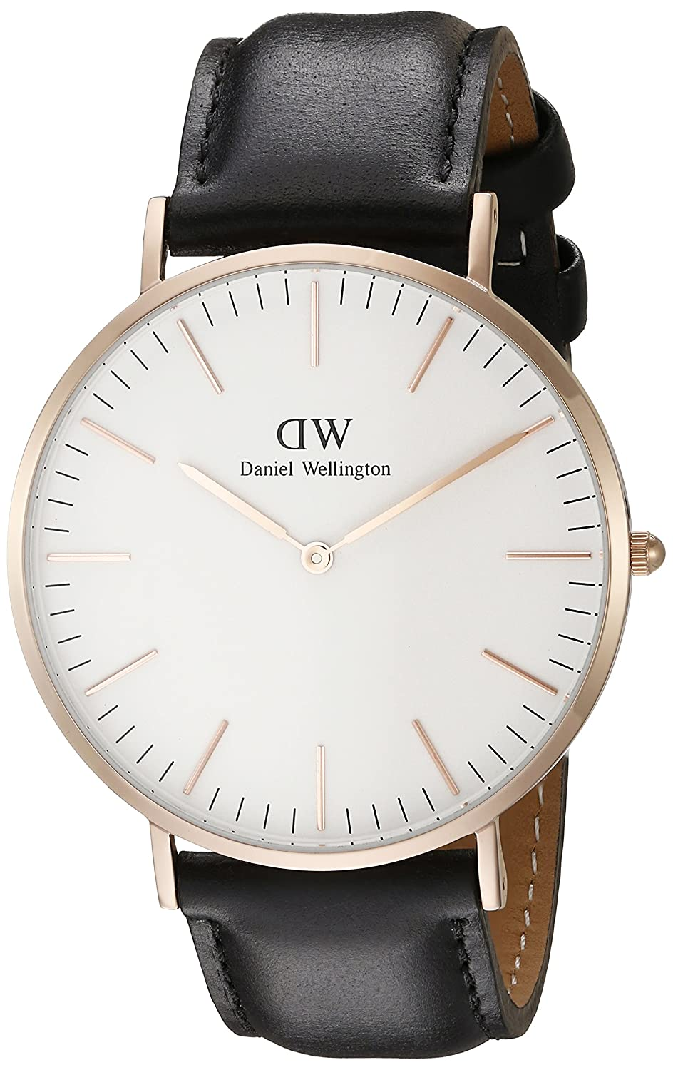 mens watches shop amazon uk daniel wellington men s quartz watch classic sheffield rose black leather strap
