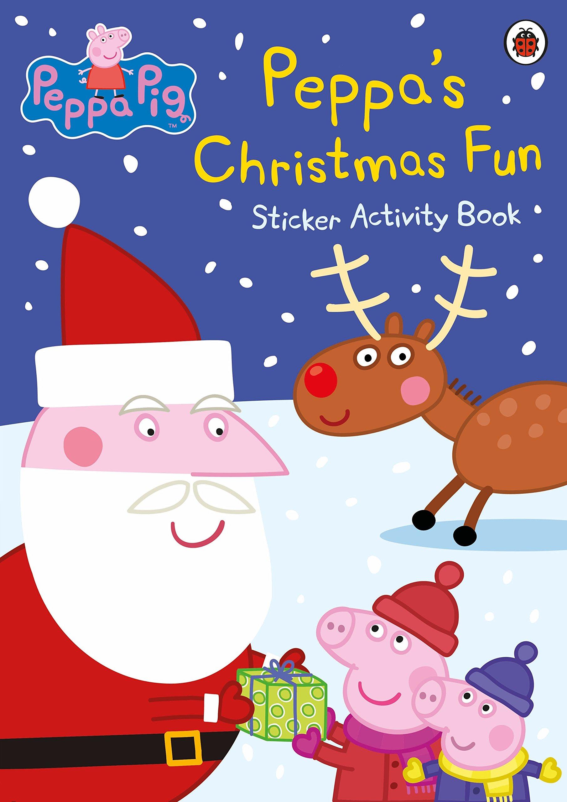 Peppa Pig Christmas.Peppa Pig Peppa S Christmas Fun Sticker Activity Book