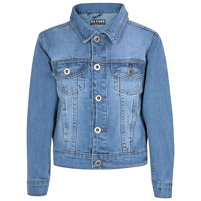 3b824606db71 Kids Boys Designer Blue Denim Jeans Jackets Fashion Jacket Coat New Age  3-13 Yr: Amazon.ca: Clothing & Accessories