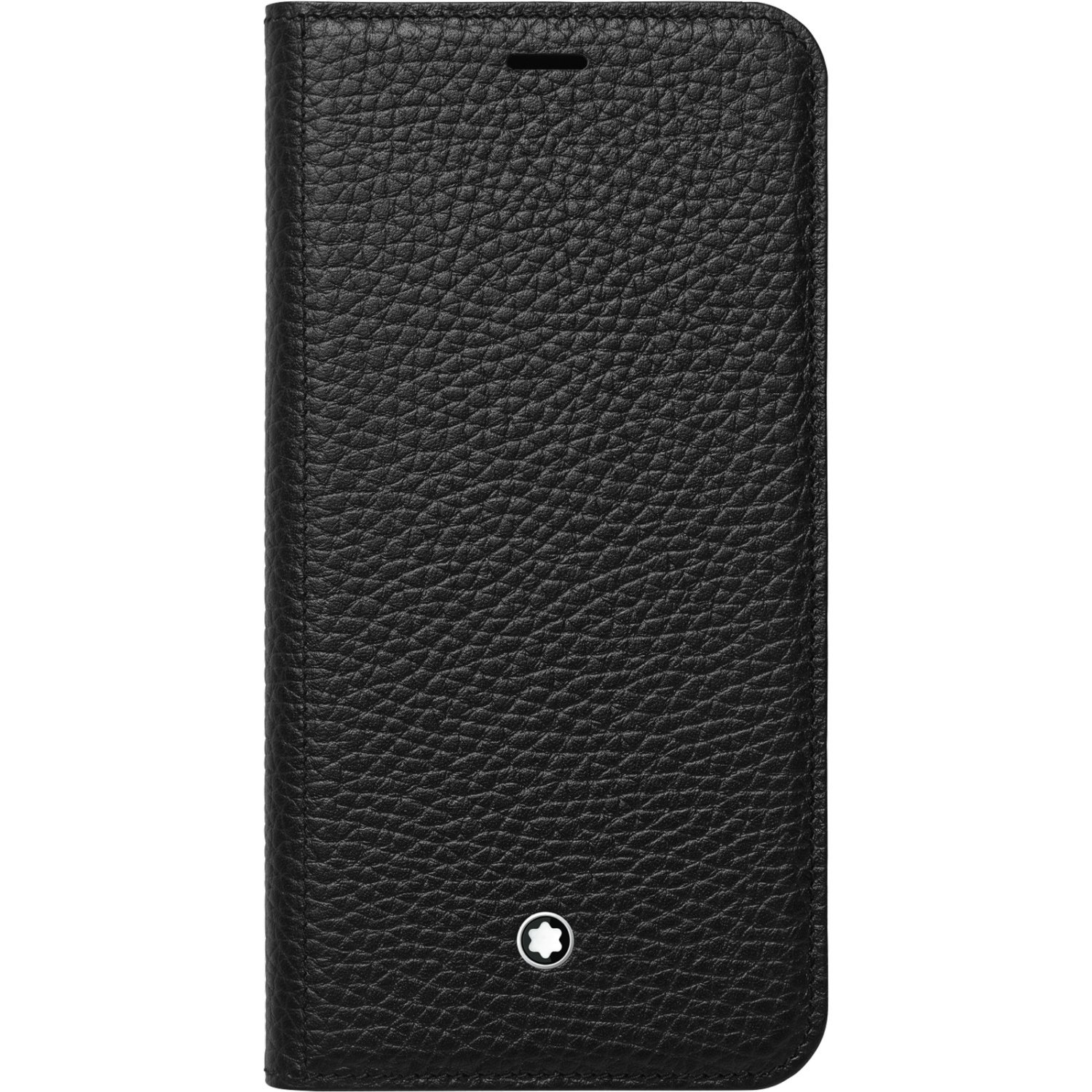 Genuine Original Official Montblanc Soft Grain Leather Flip Cover Case Meisterstuck 119111 for iPhone X
