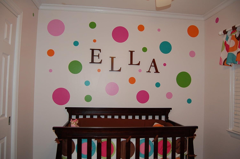 amazon com my wonderful walls polka dot circle wall stencils for amazon com my wonderful walls polka dot circle wall stencils for polka dot theme kids room wall mural home kitchen