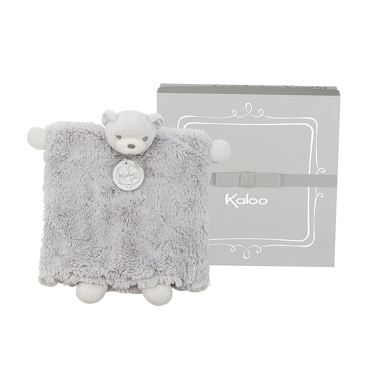 Kaloo Perle - Doudou Marionnette Ourson 20 cm - Bleu Juratoys K962156 Peluches
