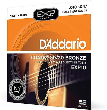 DAddario EXP10 - Juego de cuerdas para guitarra acústica de ...