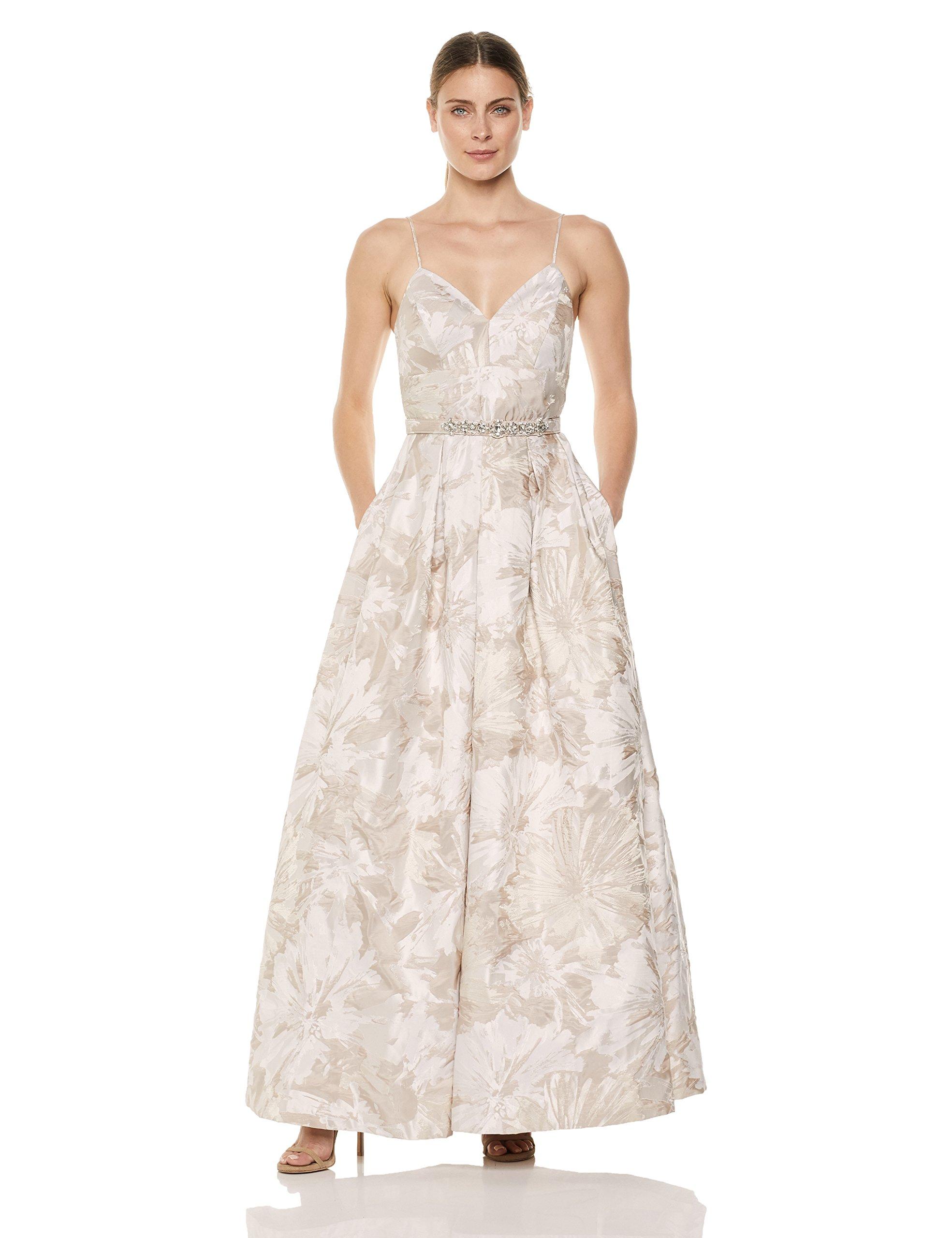 Eliza J Women's Jacquard A line Ball Gown