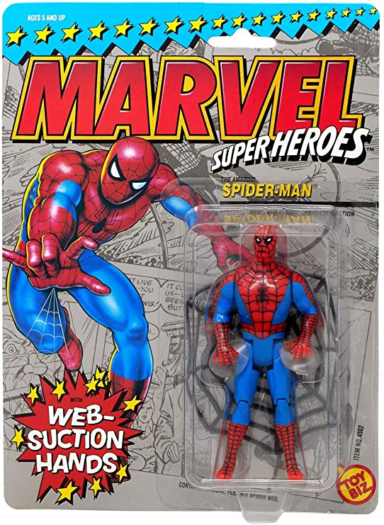 Web Suction Spiderman Vintage Action Figure (Marvel Superheroes) by Spider-Man: Amazon.es: Juguetes y juegos