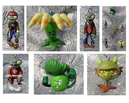 Plants vs Zombies 6 Piece Holiday Christmas Tree Ornament Set Featuring  Snapdragon, Zombie, bloomerang, Future Zombie, Bonkchoy and Pirate Zombie  ... - Plants Vs Zombies 6 Piece Holiday Christmas Tree Ornament Set