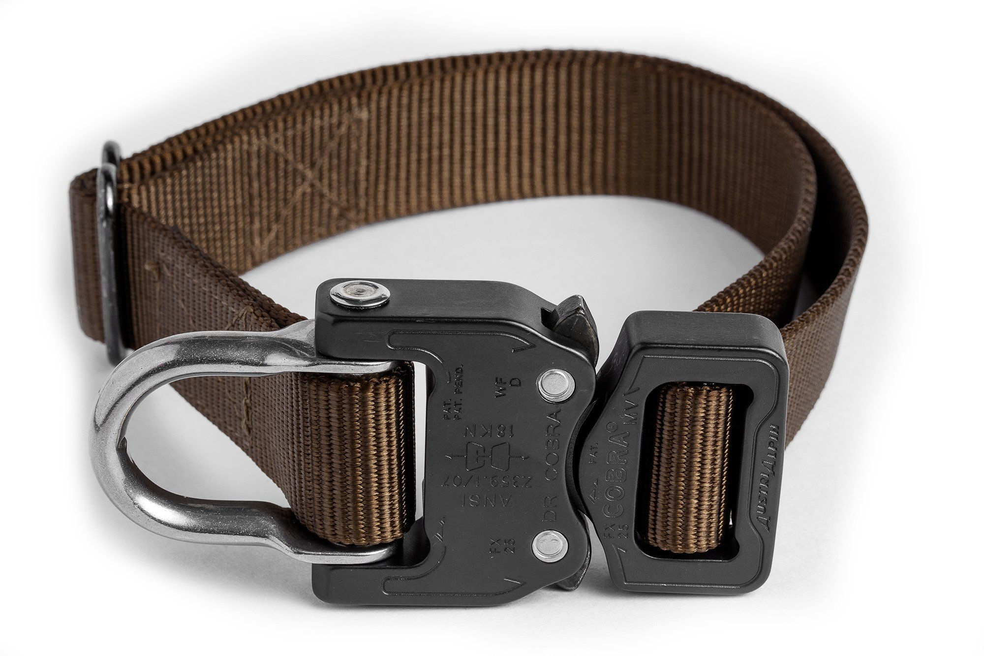 Klik Belts Tactical Nylon Dog Collar w/Cobra Quick Release Buckle-Heavy Duty (L)