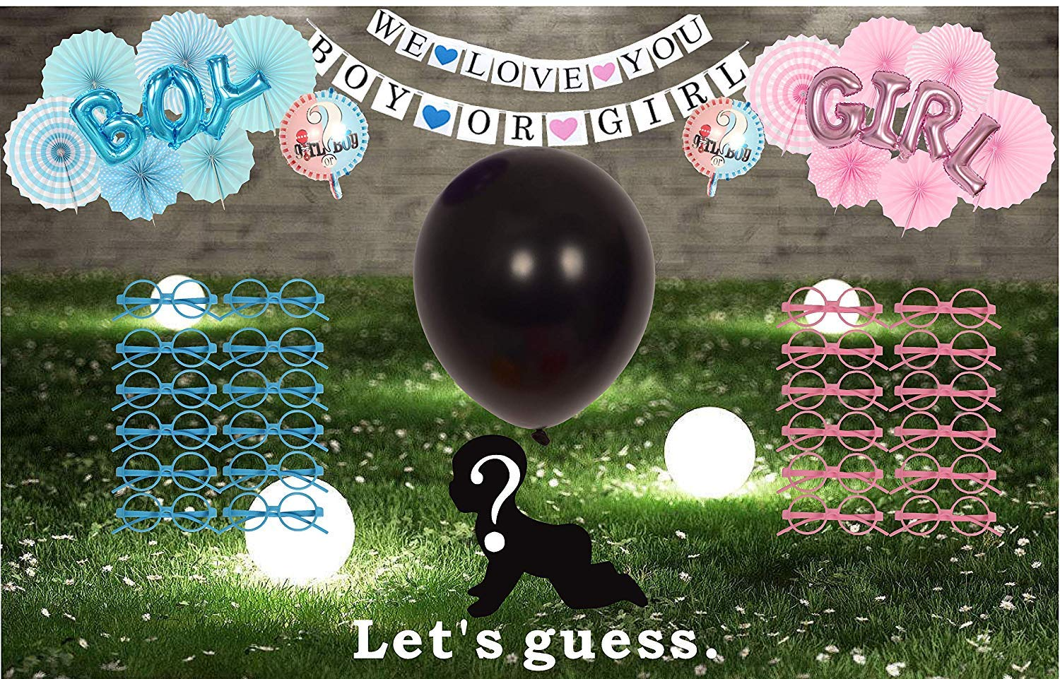 Gender-Reveal-Party-Supplies-Baby-Shower-Boy-or-Girl-Balloons-and-Banner-Kit-45-Pieces-36-Gender-Reveal-Balloon-with-Confetii-Pink-and-Blue-Reveal-Party-Supplies-Set-Celebrate-Gender-Revea