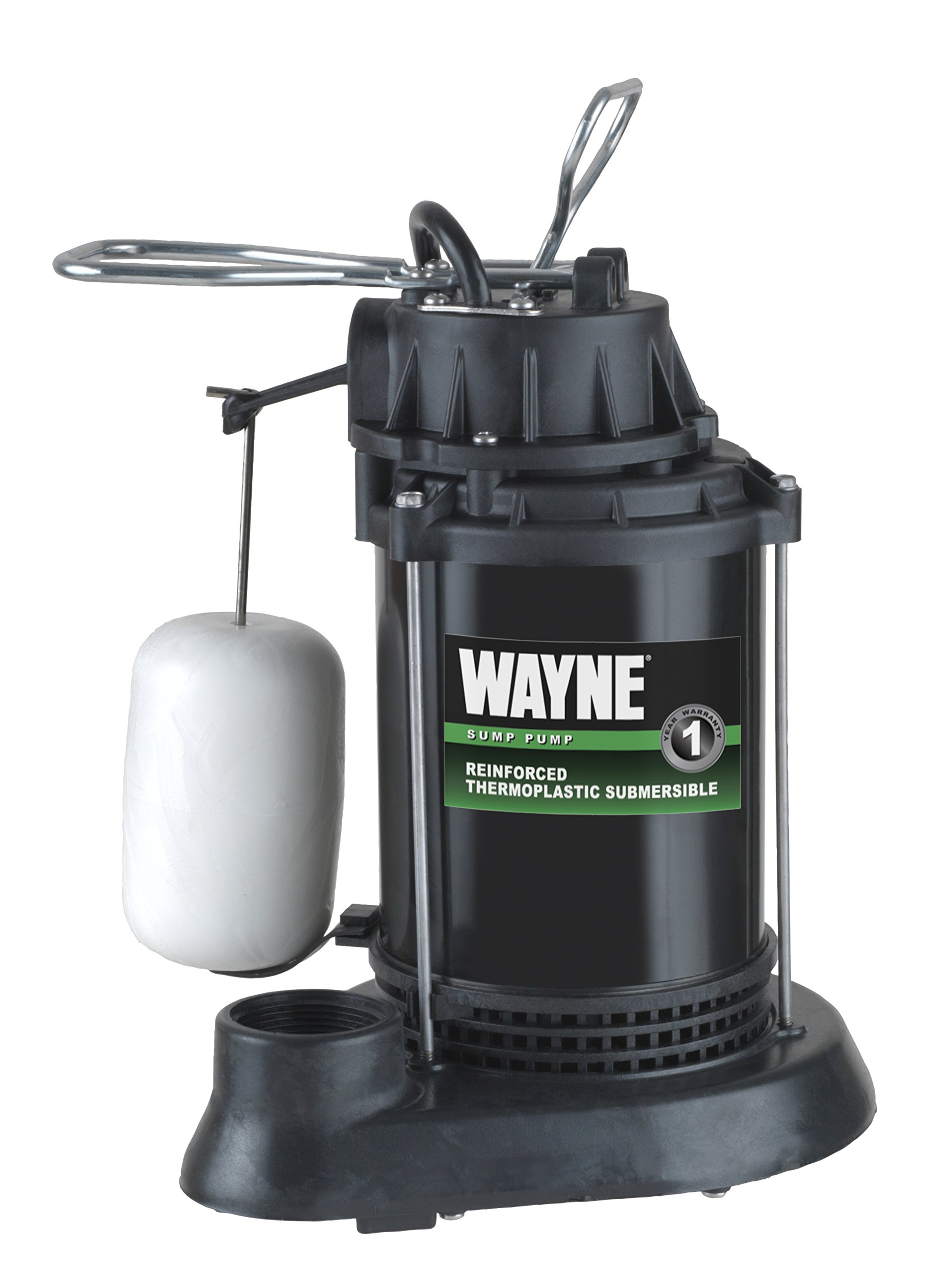 WAYNE SPF50 1/2 HP Thermoplastic Sump Pump with Integrated Vertical Float Switch by Wayne