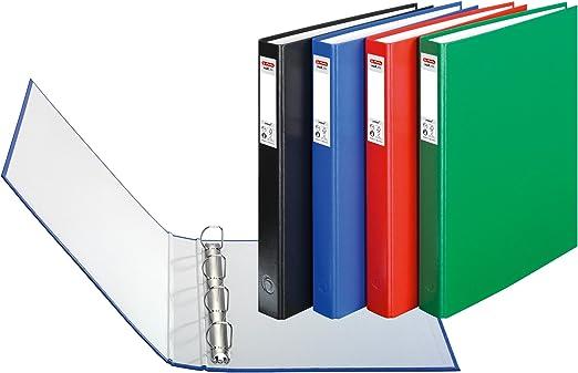 Herlitz Protect - Lote de archivadores con 4 anillas (3 unidades ...