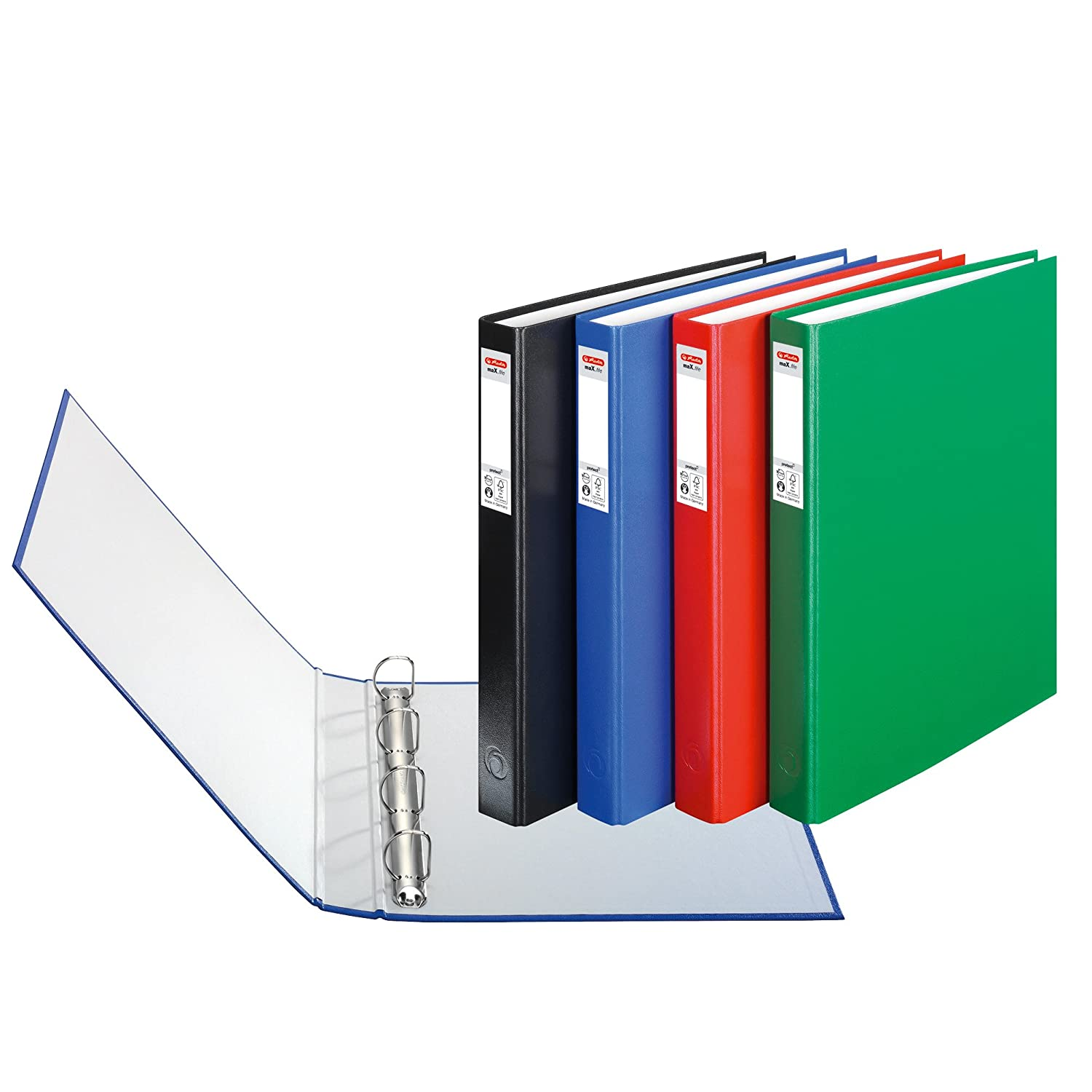 fancy office supplies. herlitz maxfile protect a4 4 ring binder assorted colours 3 pieces fancy office supplies