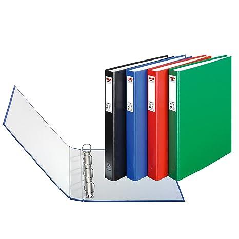 Herlitz max.file Protect - Lote de archivadores con 4 anillas (3 unidades,