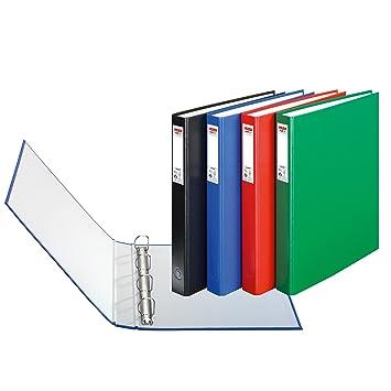 Herlitz max.file Protect - Lote de archivadores con 4 anillas (3 unidades, A4), varios colores: Amazon.es: Oficina y papelería