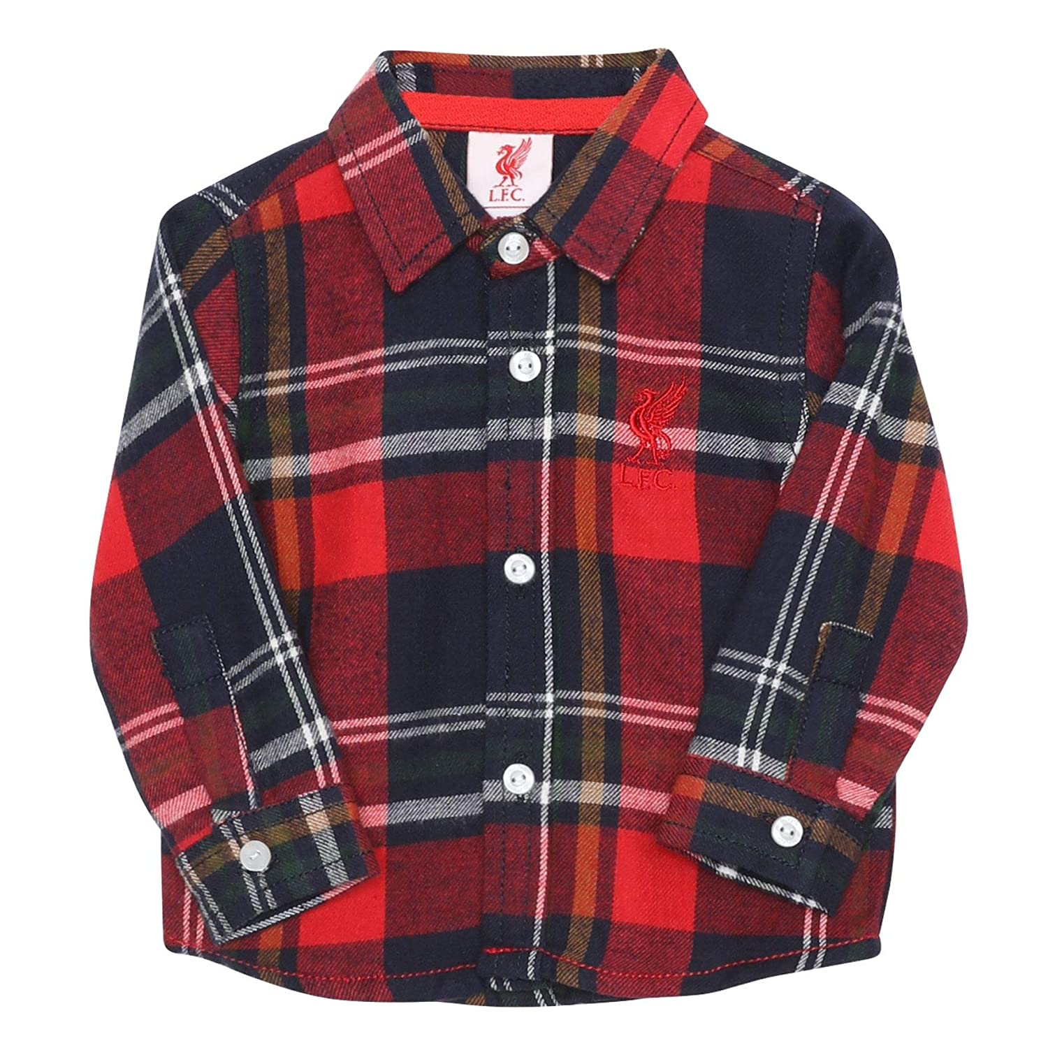 Liverpool FC Baby Navy Check Shirt LFC Official