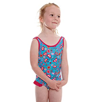 Zoggs Girlu0027s Fun Flower Scoop Back Swimming Costume - Turquoise/Multi-Colour 20  sc 1 st  Amazon UK : swimming costume for girls  - Germanpascual.Com
