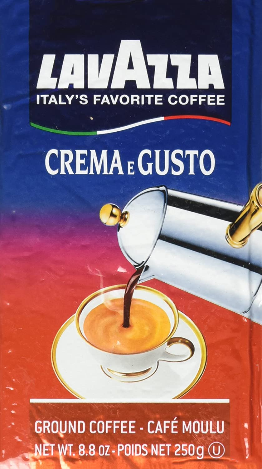 Lavazza Italian Espresso Crema Gusto Ground Coffee, 8.8 oz