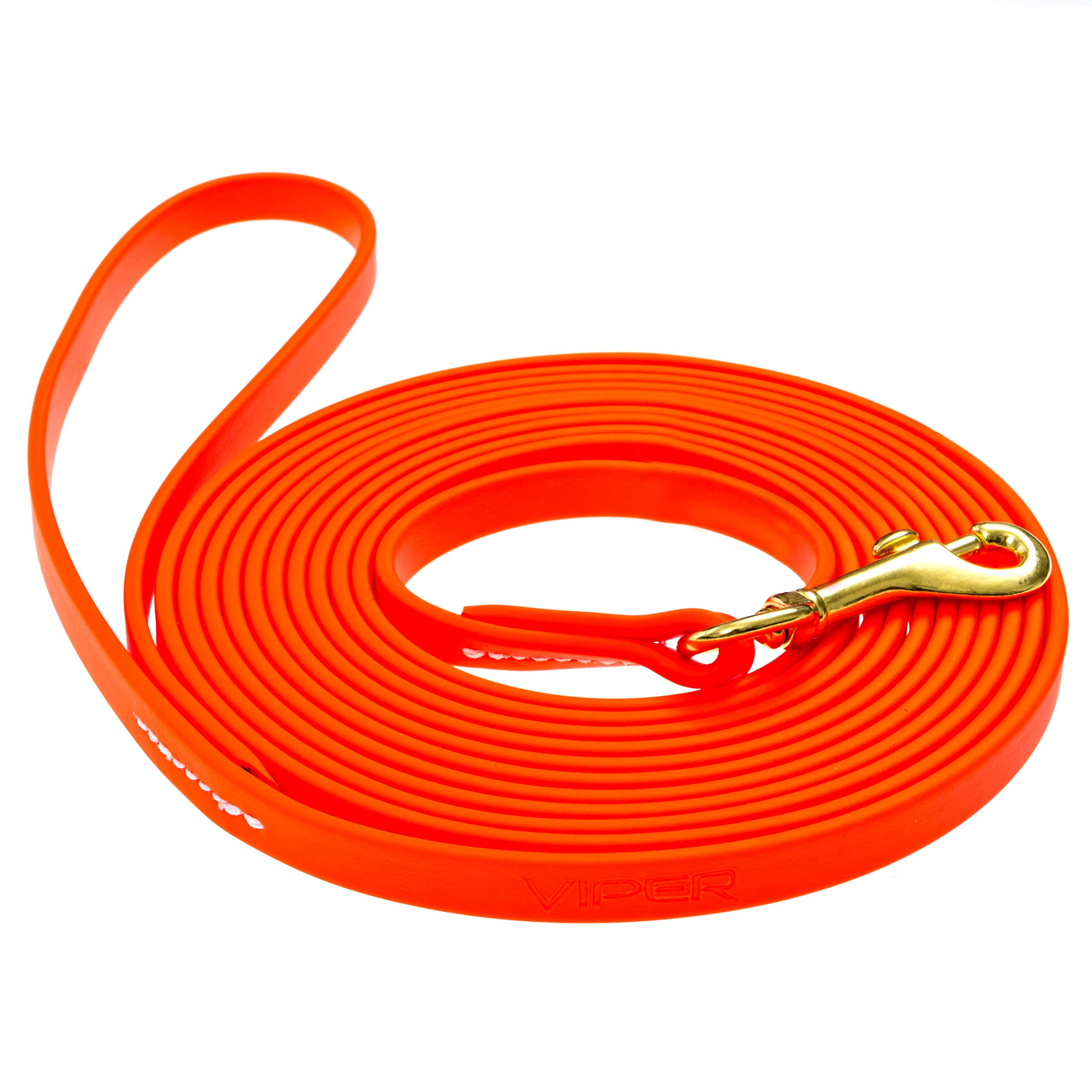 Viper Biothane Working Tracking Lead Leash Long Line for Dogs 2 Colors and 16 Sizes