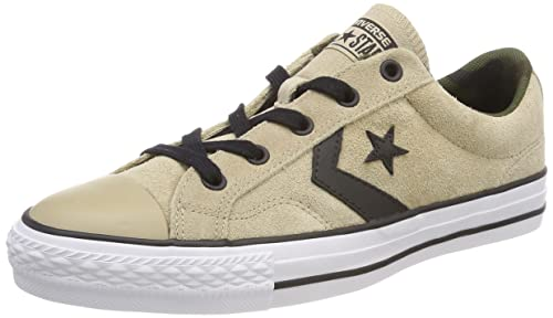 Converse Lifestyle Star Player Ox Suede, Scarpe da Fitness Unisex-Adulto, Marrone (Vintage Khaki/Black/White 270), 44/45 EU