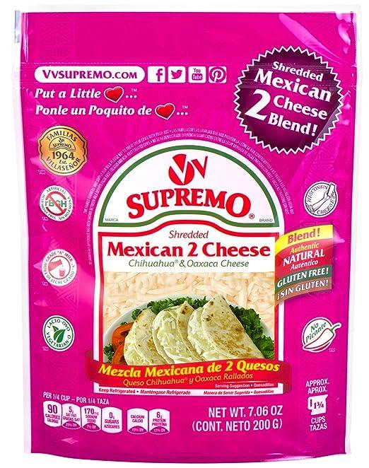V&V Supremo, 2-Cheese Shredded Mexican Blend, 7.06 oz